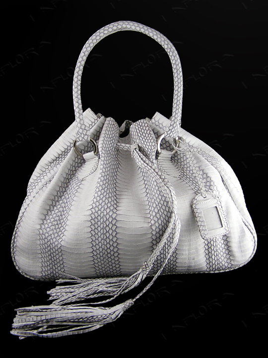 Snakeskins Implora Natural Cobra Hobo Style Bag Large