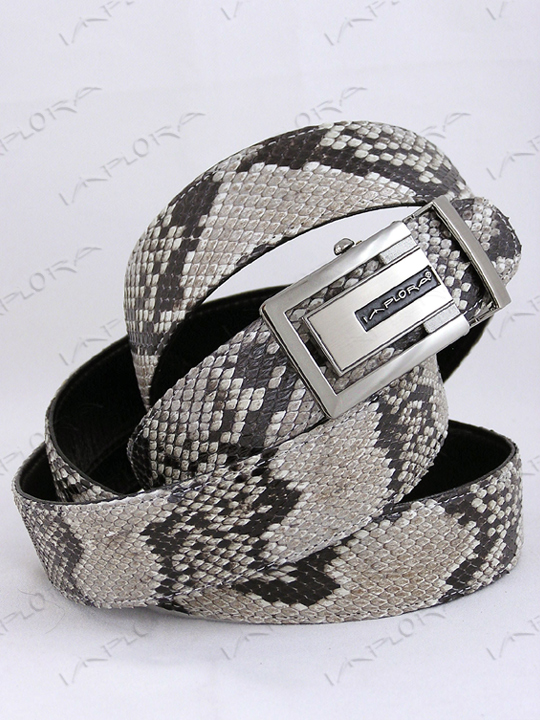 Snakeskins Implora Natural Python Snakeskin Belt XXL