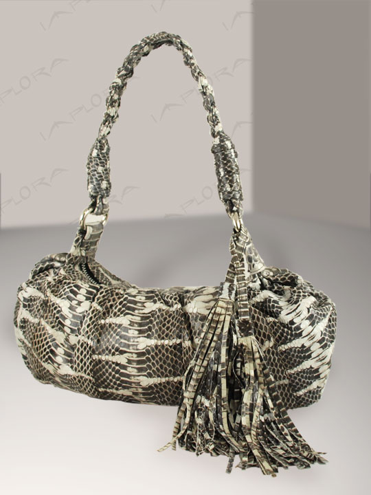 Snakeskins Implora Natural Mangrove Mini Hobo Bag