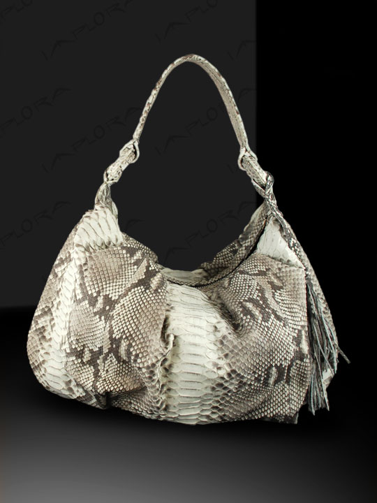Snakeskins Implora Natural Python Medium Hobo Bag