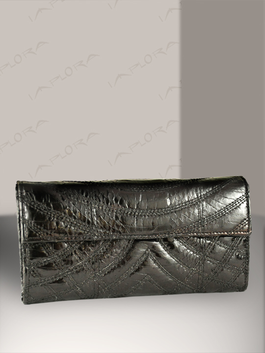 Snakeskins Implora Black Cobra Snakeskin Lady Wallet