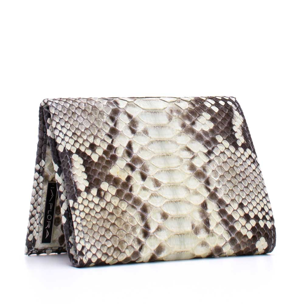 Snakeskins Implora Natural Python Trifold Wallet w/ID Belly