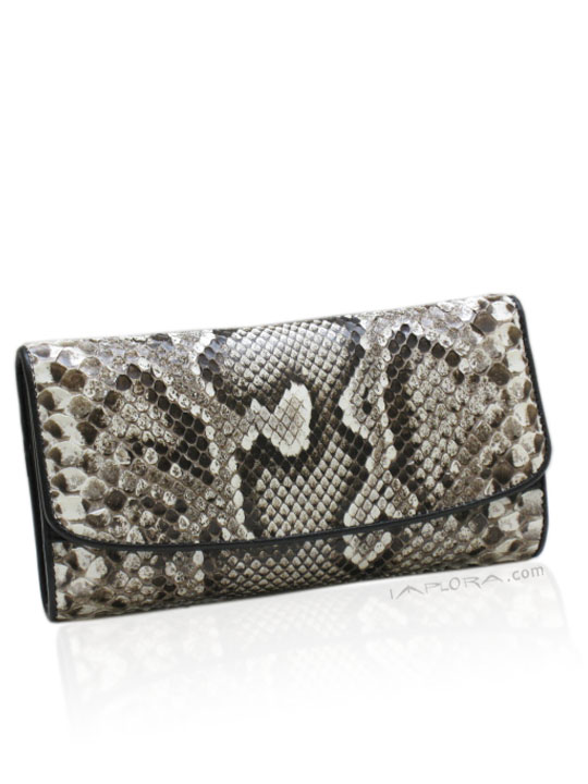 Snakeskins Implora Natural Burmese Python Lady Purse
