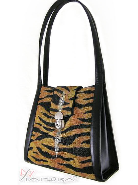 Stingray Leathers Stingray Tiger Art Deluxe Shoulder Bag