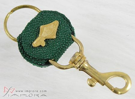 Stingray Leathers Green Stingray Key Chain
